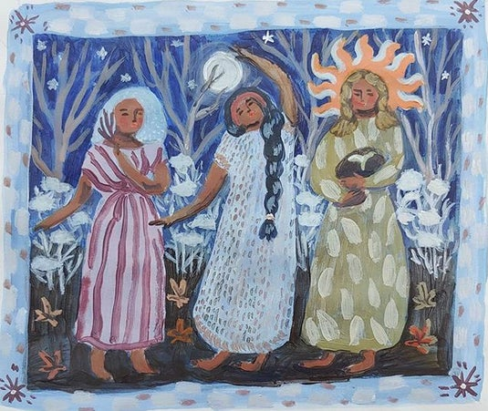 Image of Solstice Sisters | 5.5x6.5 Original on paper