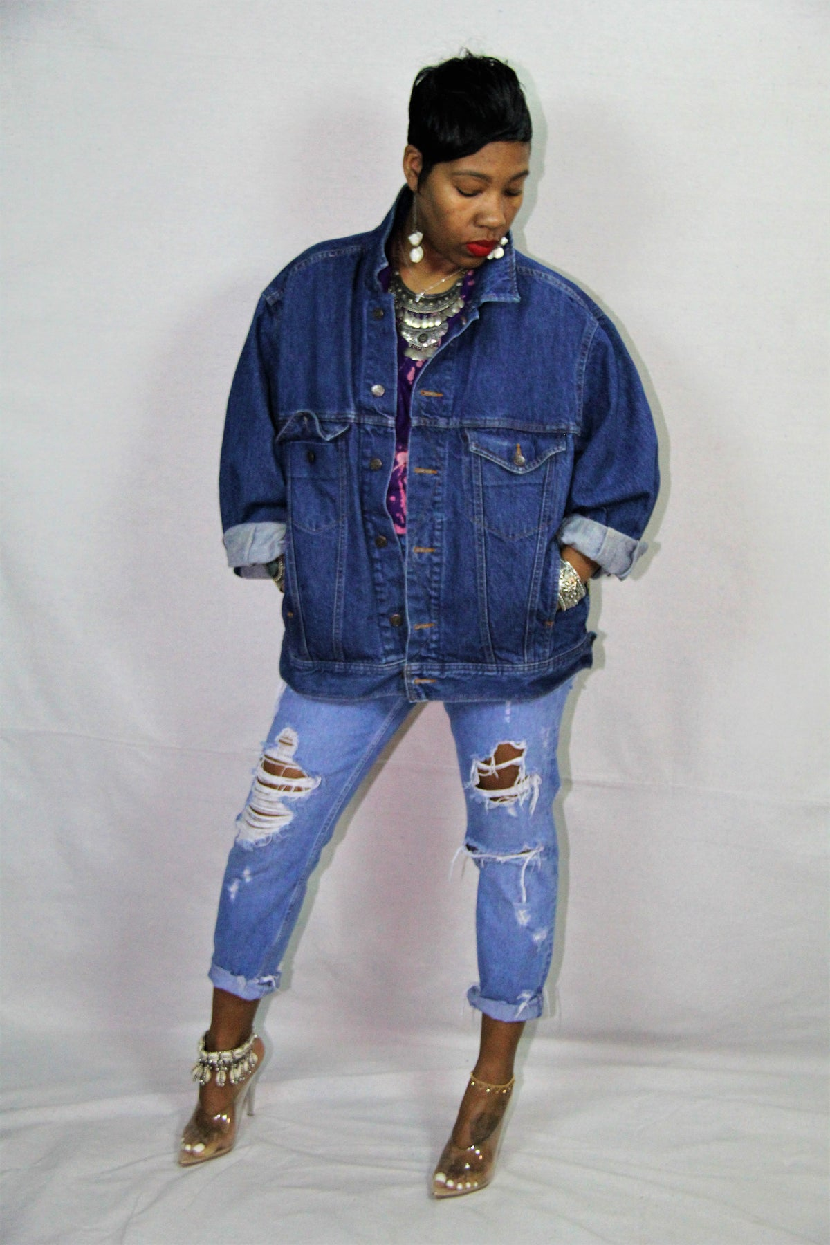 "Image of ""Dance with Me"" Denim Jacket"