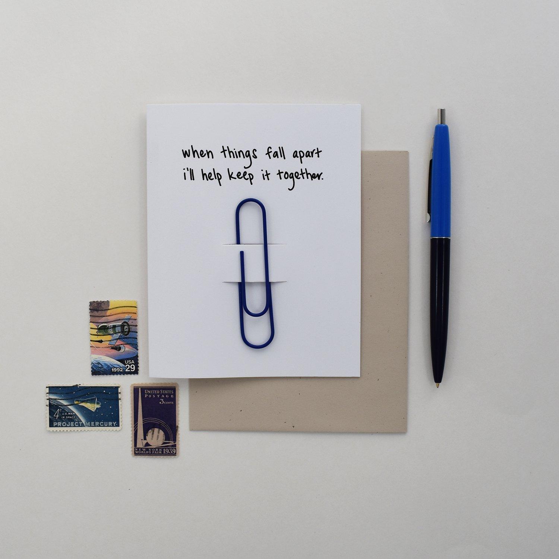 Image of Fall Apart Condolence Card