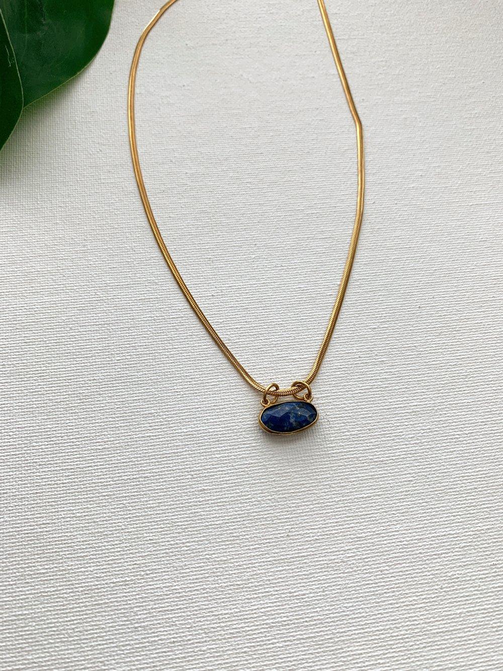 Image of UHURU • Lapis Lazuli Necklace