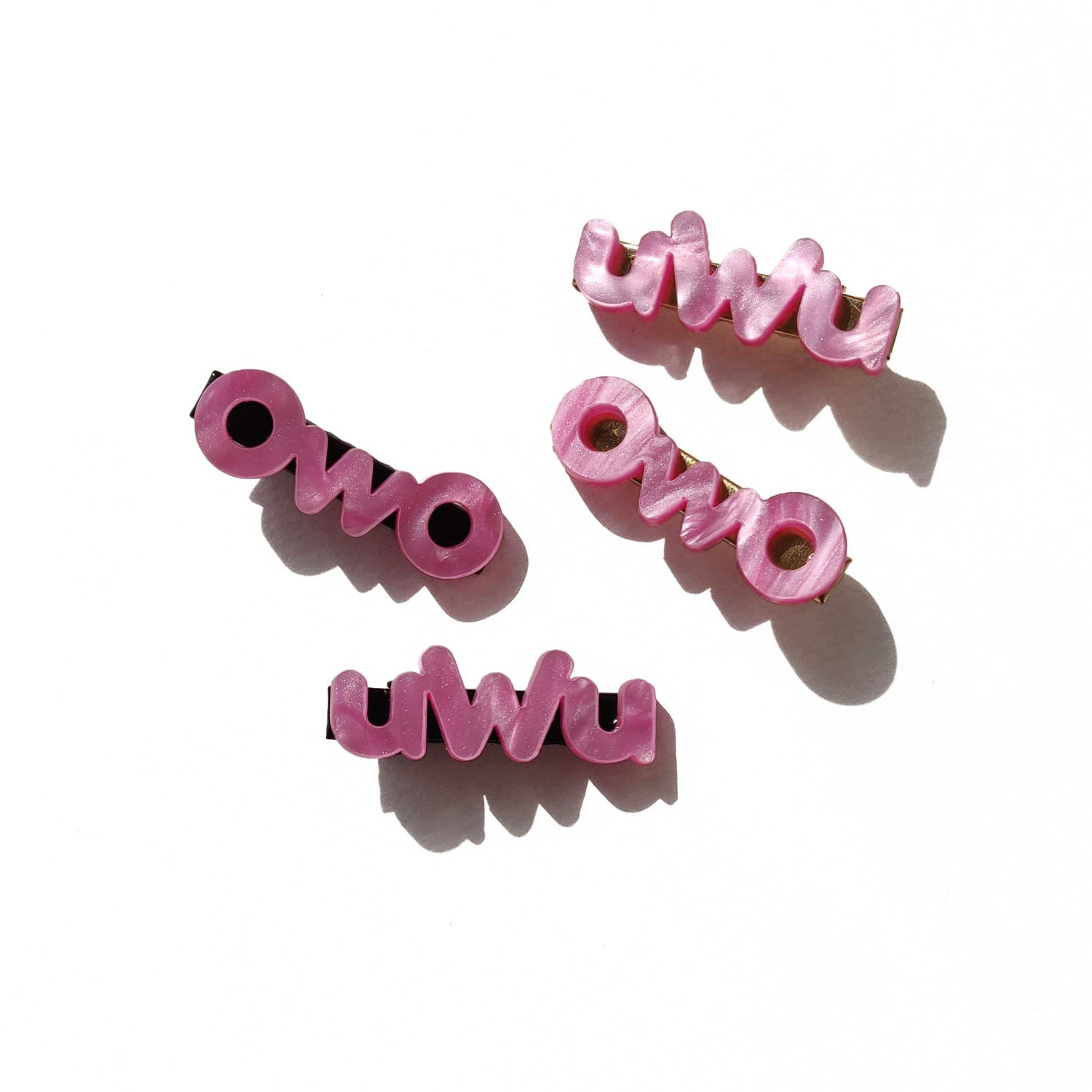 Image of uwu owo hairclip set