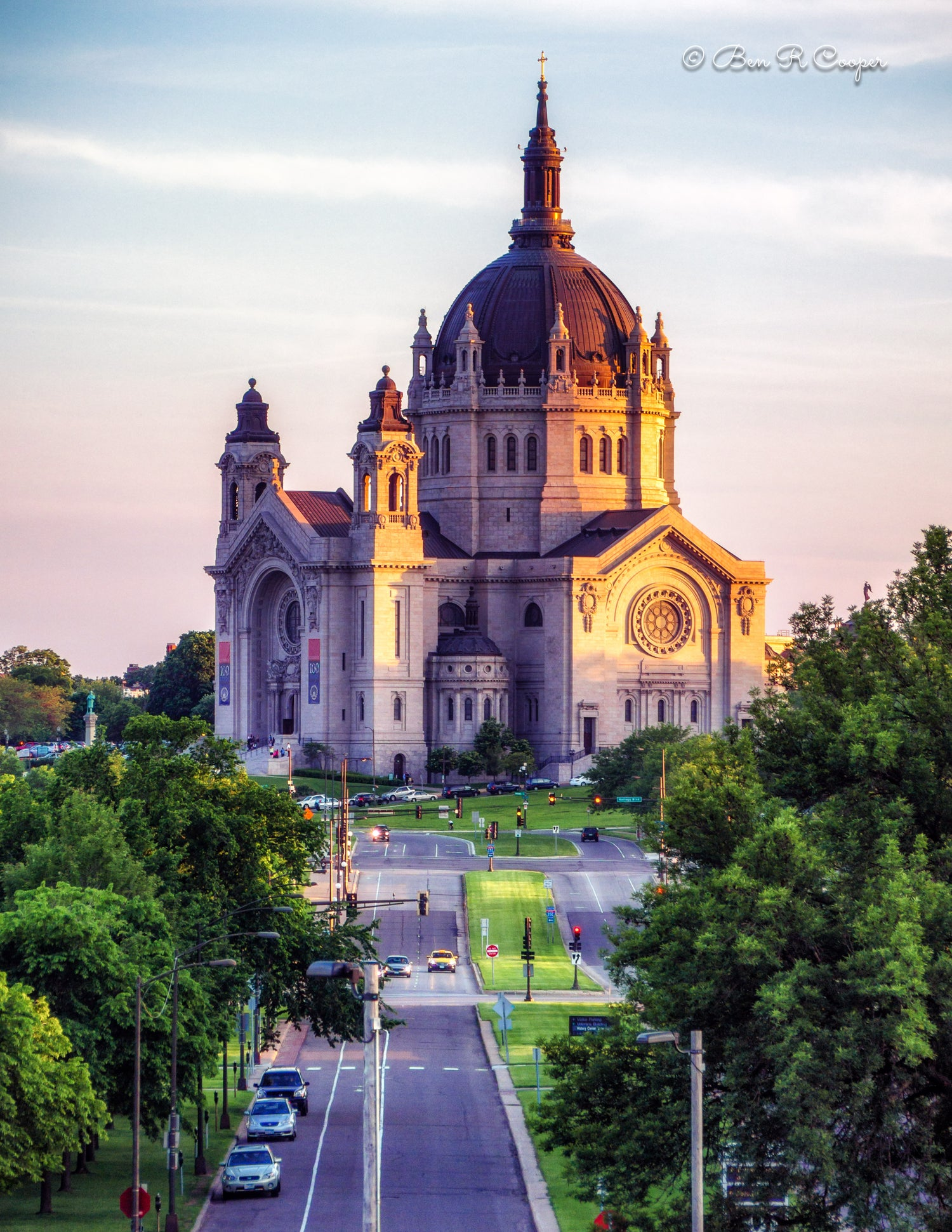 Cathedral of St. Paul at Sunset