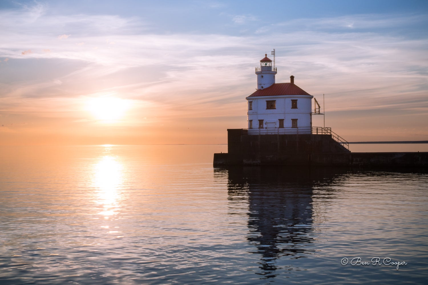 Sunrise at Superior Entry Lighthouse