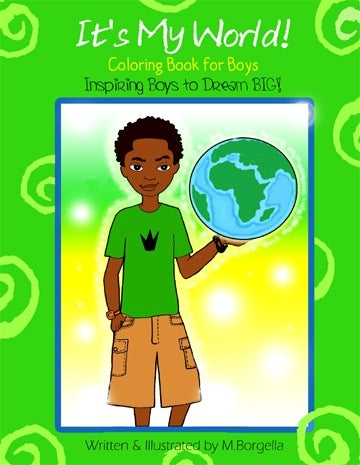 Image of It's My World Coloring Book for Boys