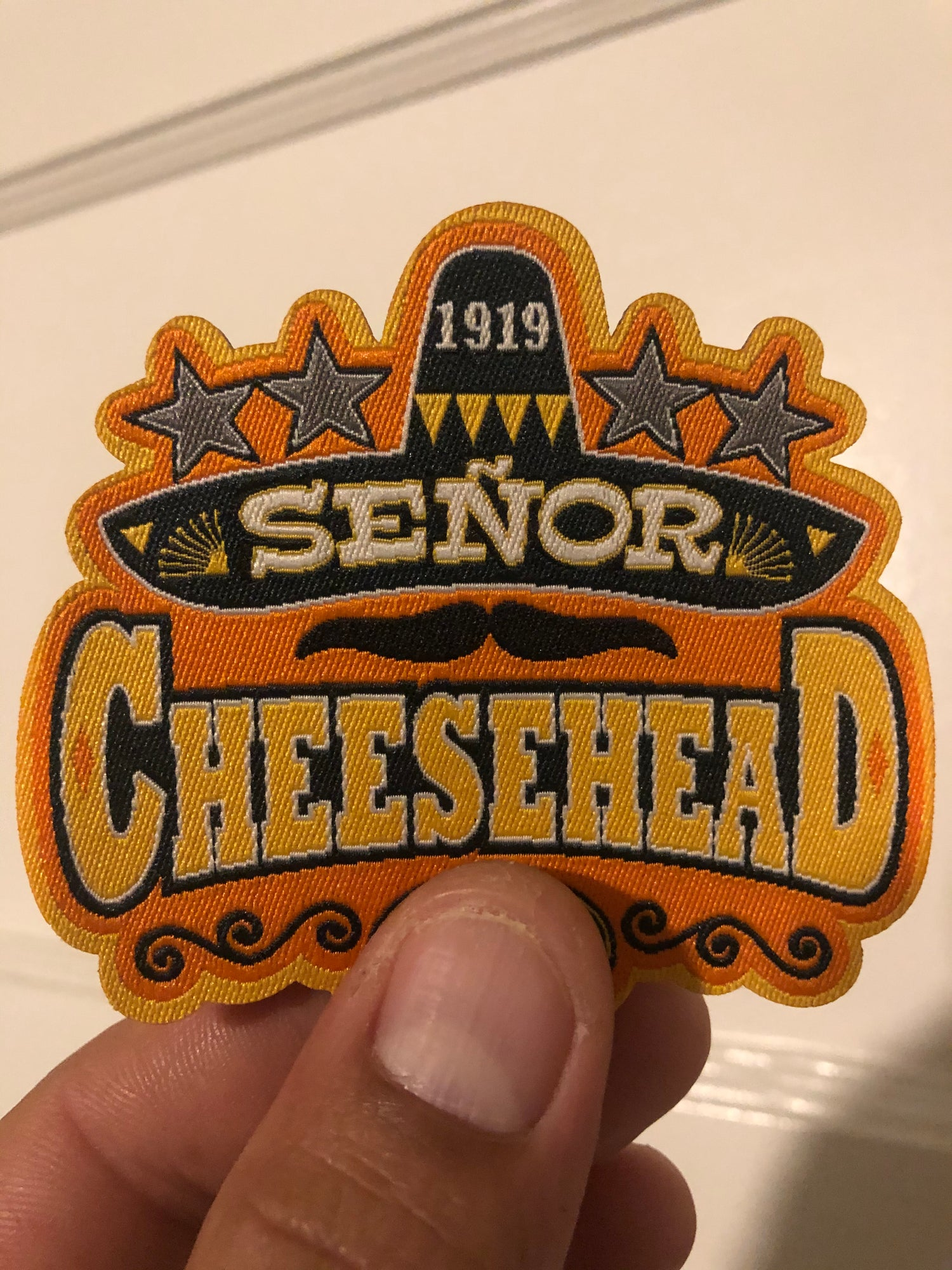 Image of SEÑOR CHEESEHEAD LOGO PATCH