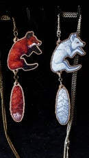 Image 3 of Leaping Fox: 2 Piece Wooden Necklace