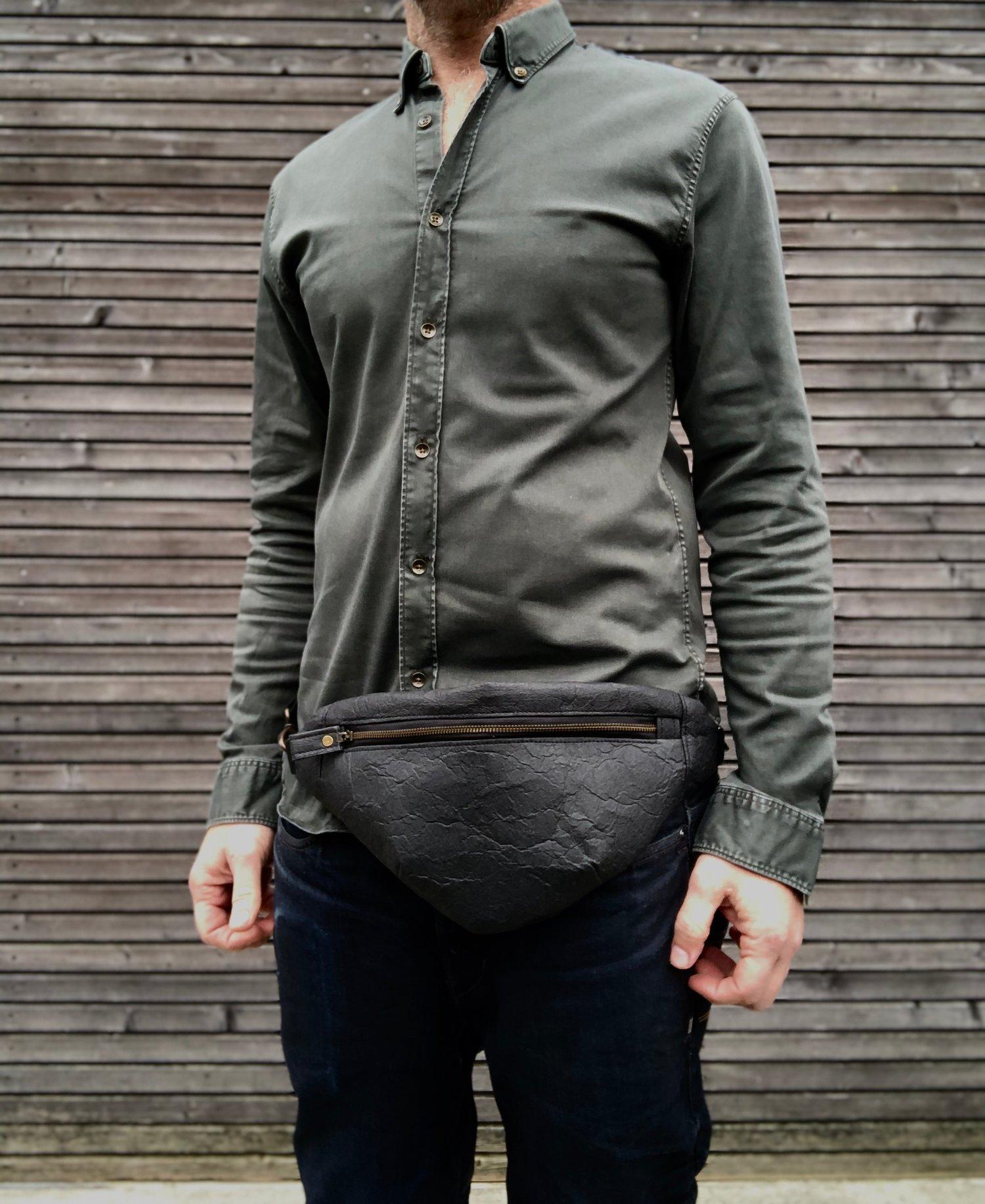 Image of Pinatex fanny pack / vegan belt bag / sling bag/ chest bag unisex collection