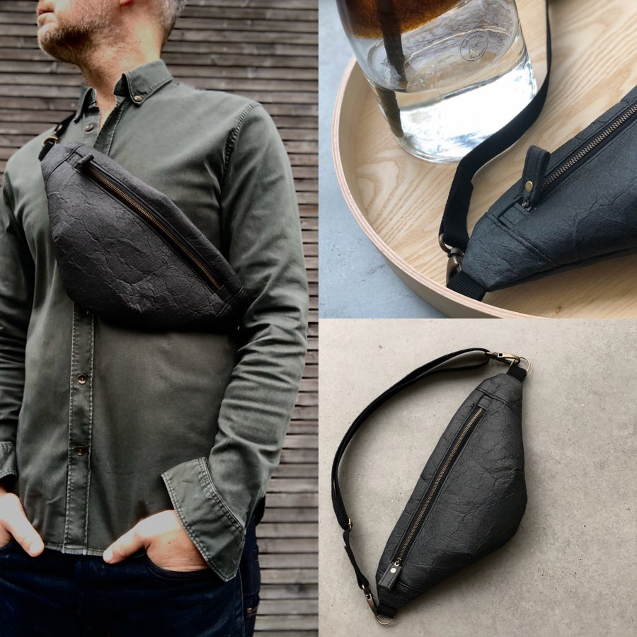 Image of Pinatex fanny pack / vegan belt bag / sling bag/ chest bag unisex collection