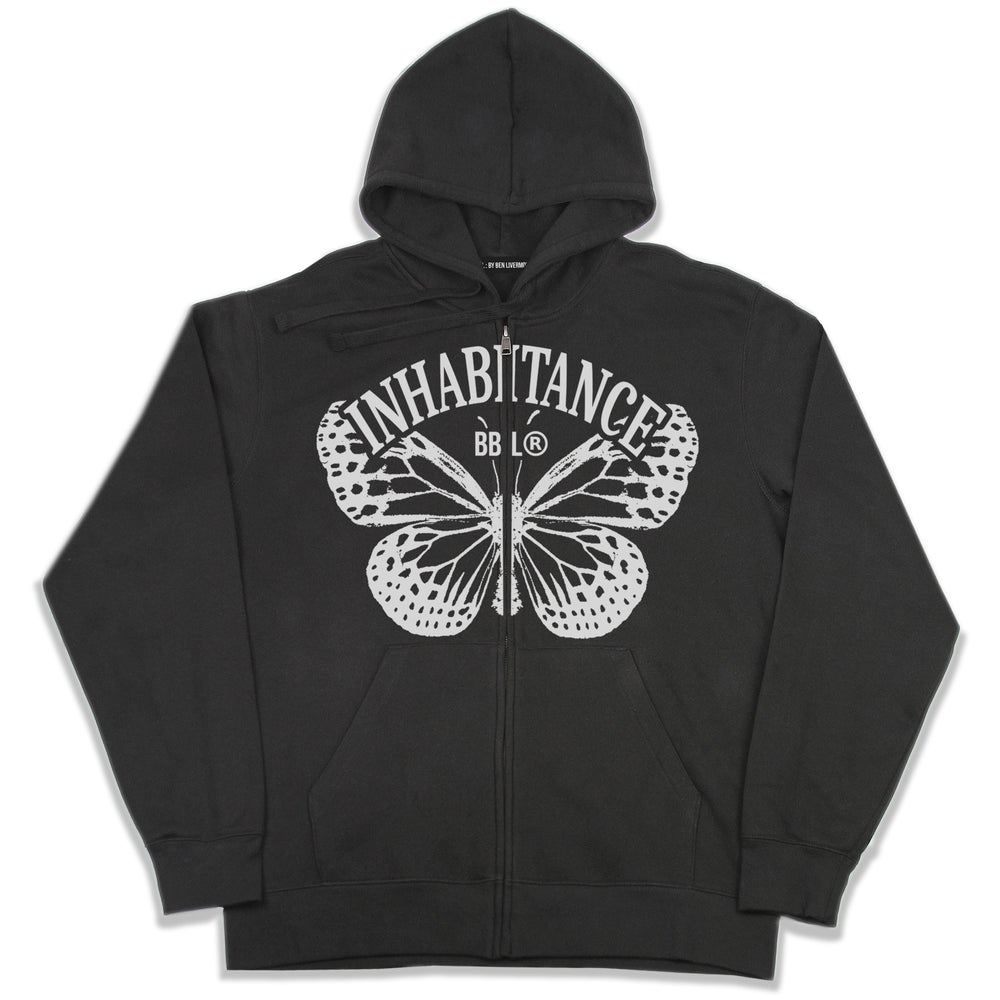 Image of Inhabitance Zip Up Hoodie (Black)
