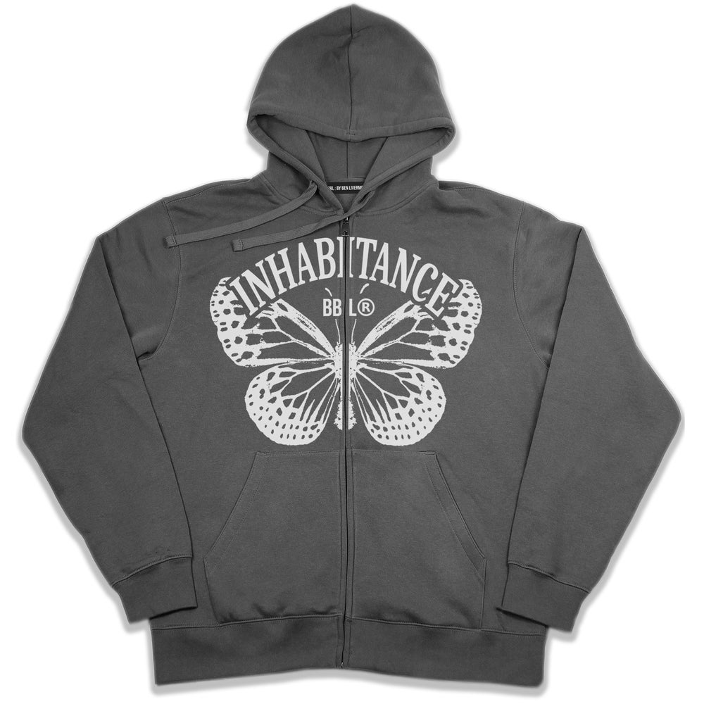 Image of Inhabitance Zip Up Hoodie (Grey)