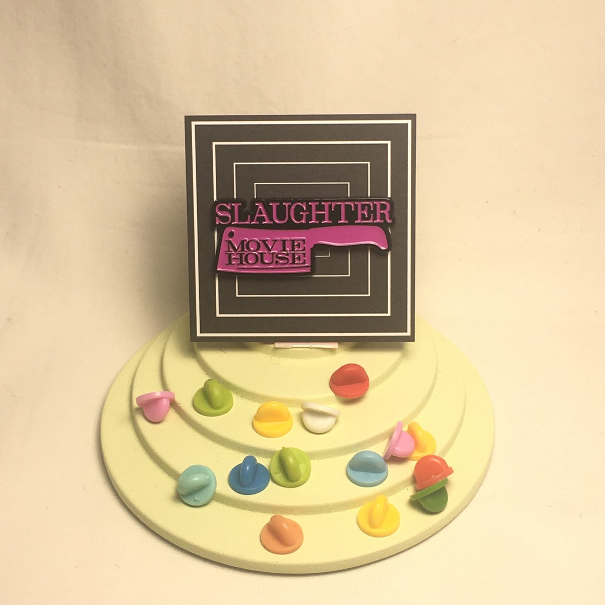 Image of Slaughter Movie House Logo Pin