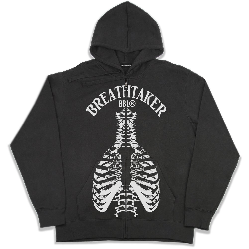 Image of Breathtaker Zip Up Hoodie (Black)