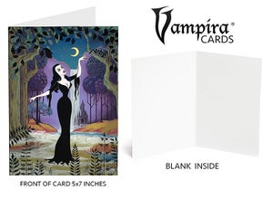 "Image of Vampira® ""ScreamLand"" 5x7 Card (blank inside)"