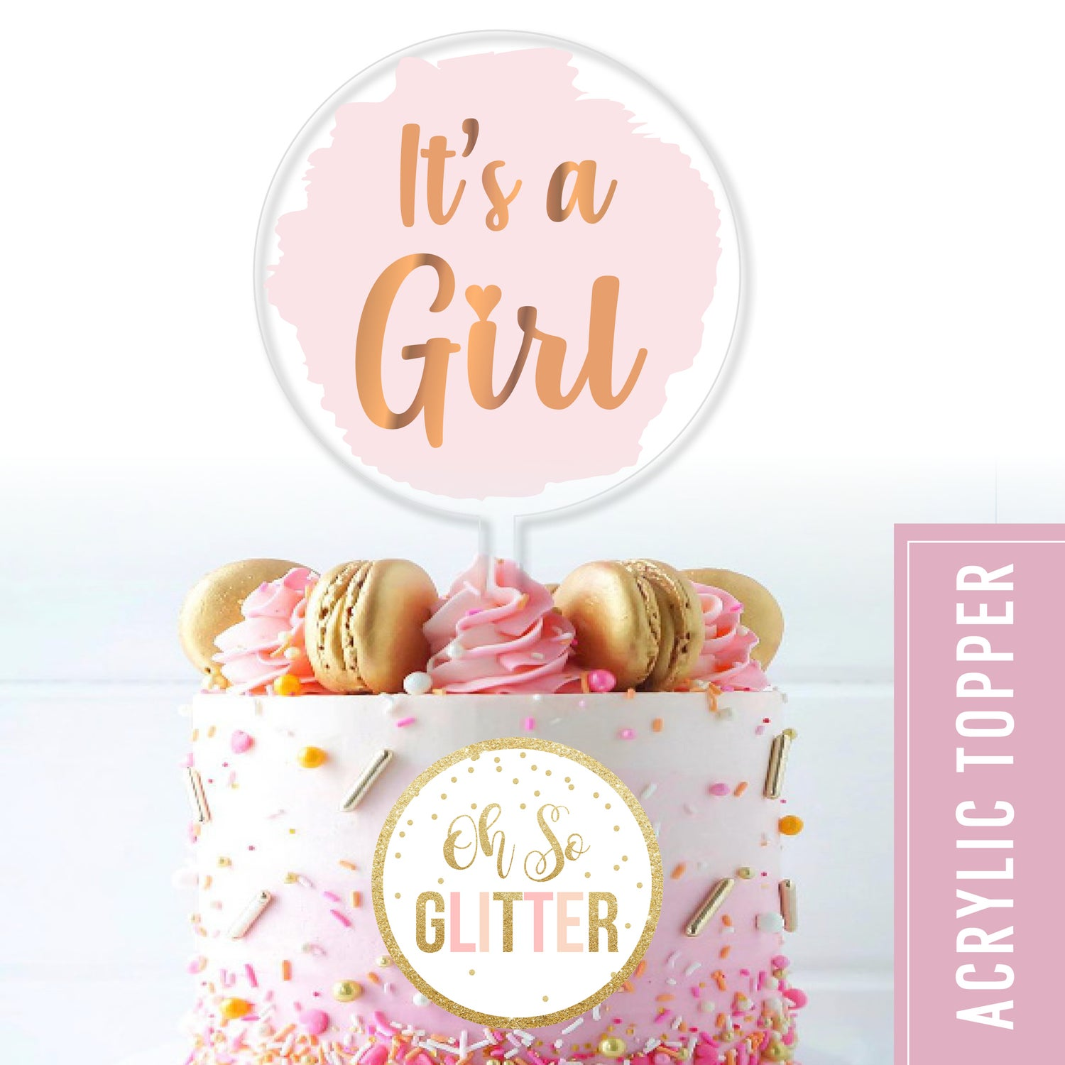 Image of Its a Girl / Boy - Acrylic cake topper