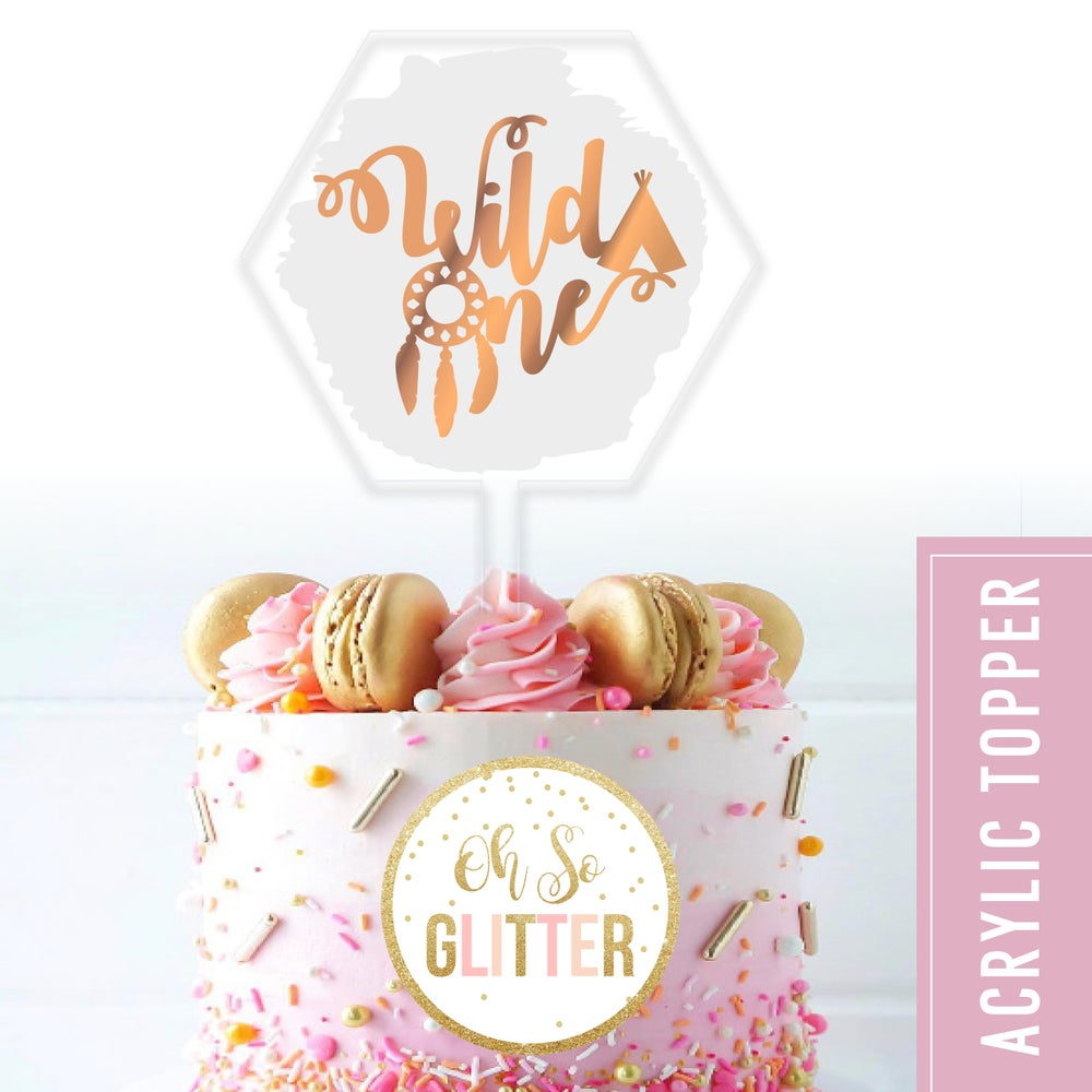 Image of Wild One - acrylic cake topper