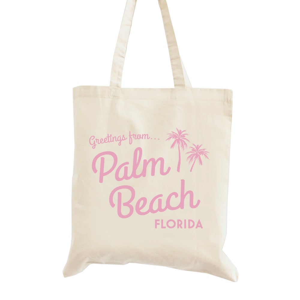 Image of Palm Beach Wedding Welcome Tote Bag