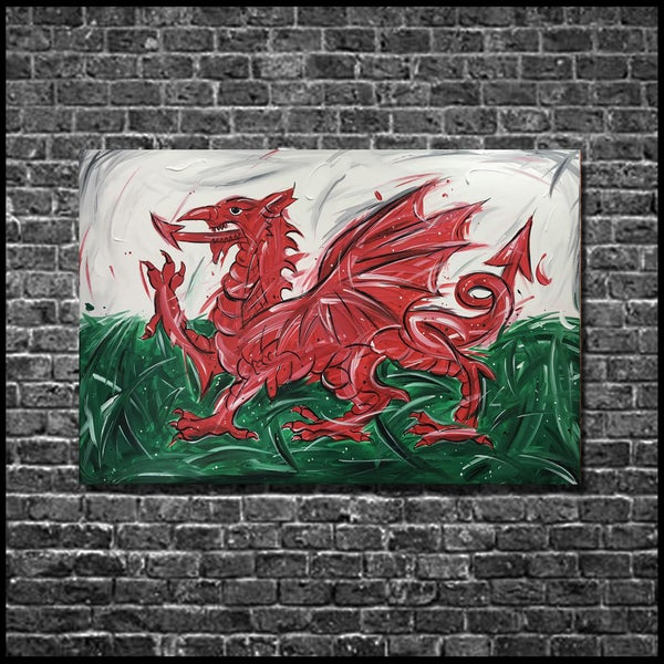 Image of DRAIG (3x2ft canvas print)