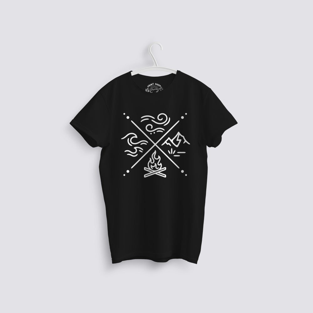 Image of Camping Icons Organic T-Shirt