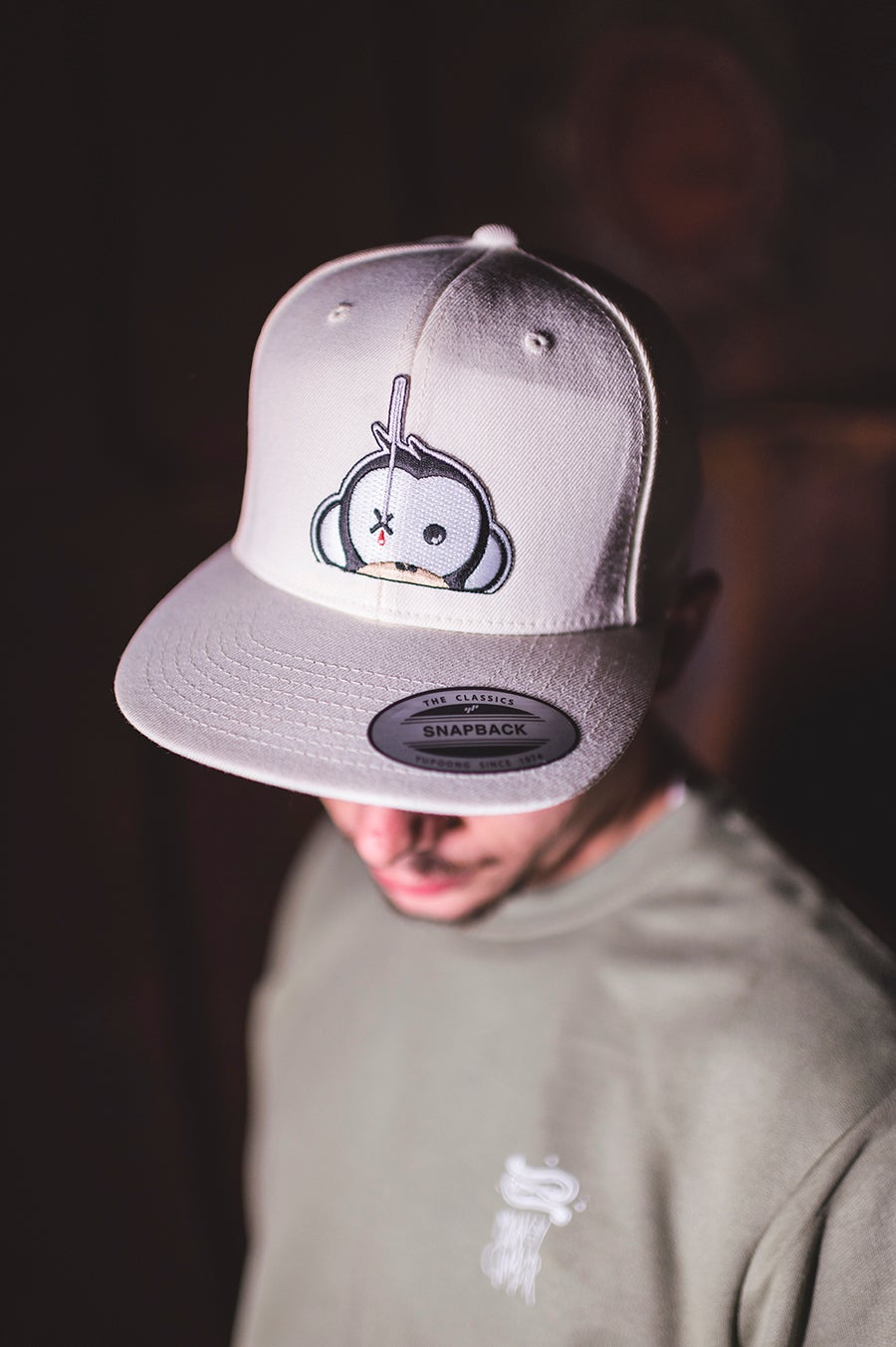 Image of Monkey Climber Logo Patch Snapback I Ivory