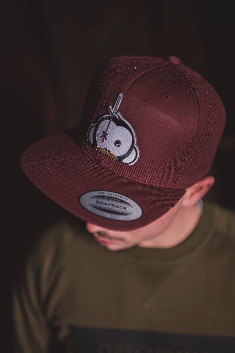 Image of Monkey Climber Logo Patch Snapback I Burgundy