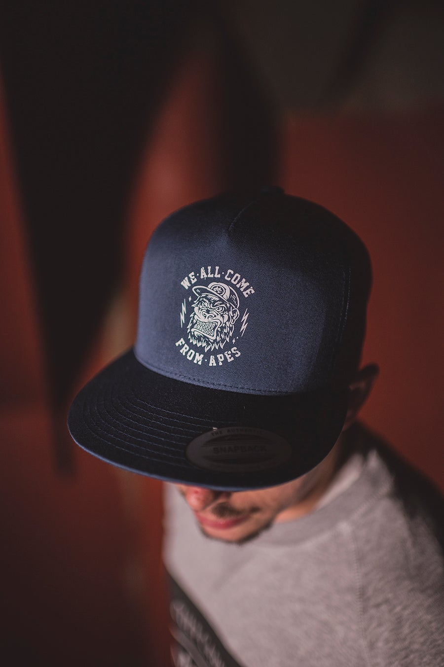 Image of Monkey Climber APE Mesh Snapback I Navy - Black - Charcoal