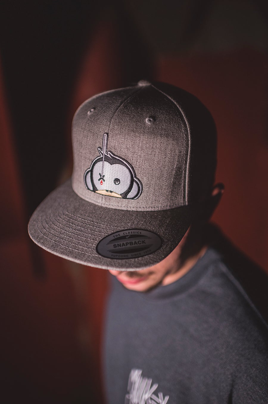 Image of Monkey Climber Logo Patch Snapback I Grey