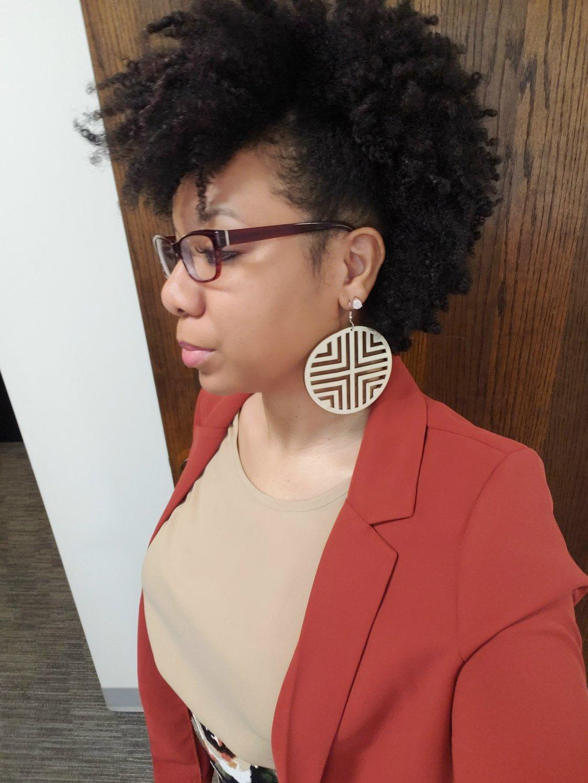 Image of Linear Circle Earrings
