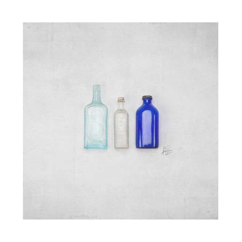 Image of 5x5 Greeting Card Happy Things Vintage Bottles
