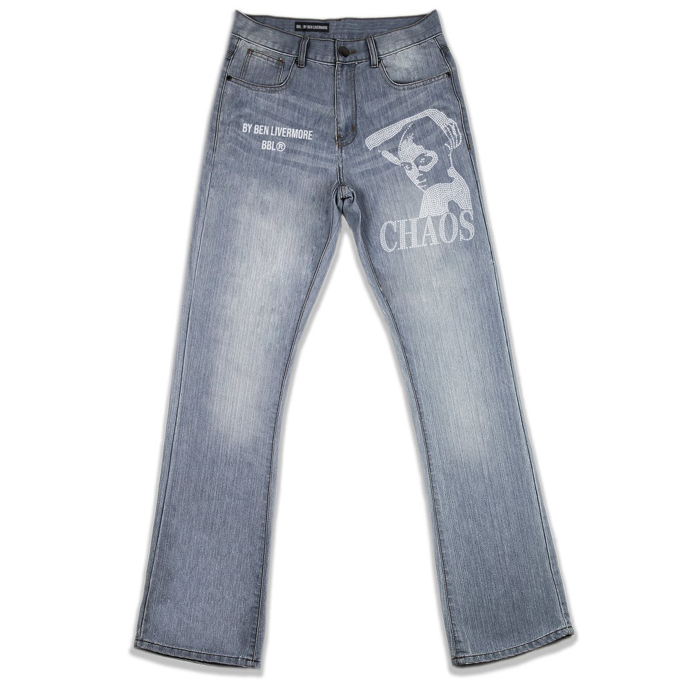 Image of Chaos Rhinestone Jeans (Stonewash)