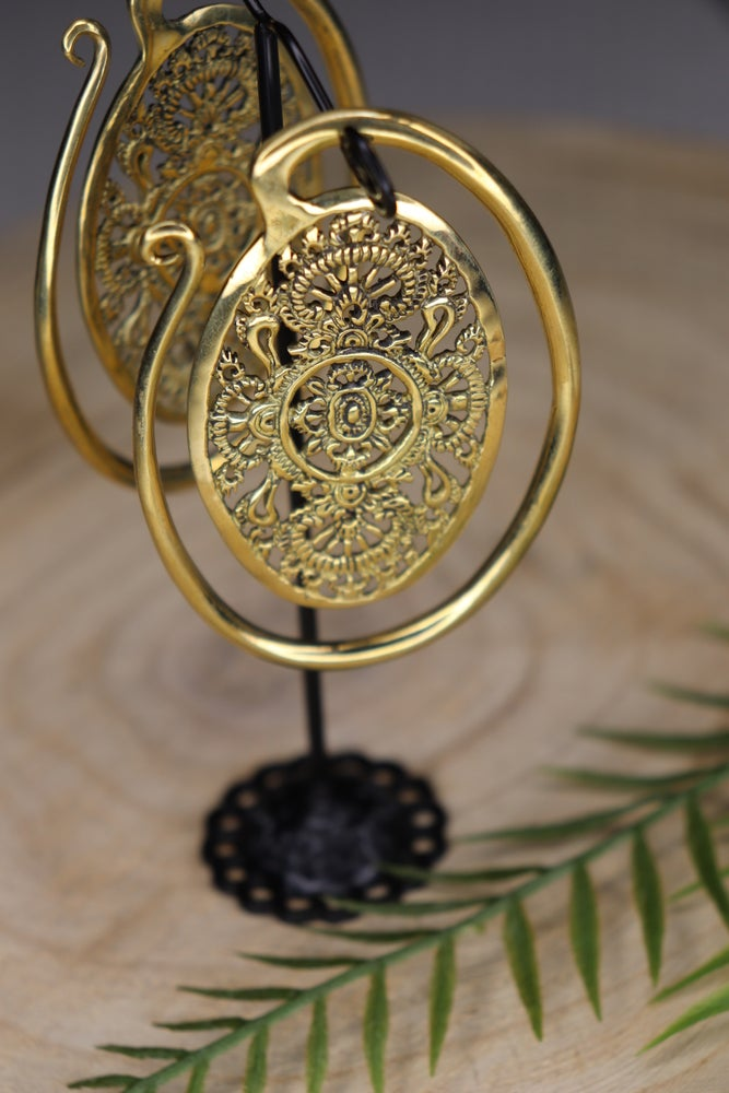 Image of Solid Brass Large Puj Ju Ovals