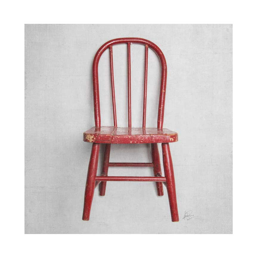 Image of 5x5 Greeting Card Happy Things Red Chair