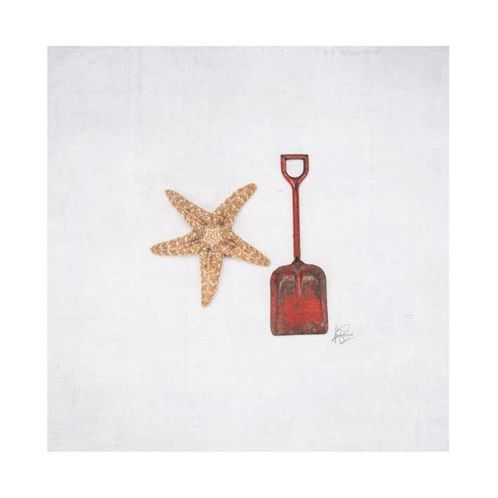 Image of 5x5 Greeting Card Happy Things Sand Shovel