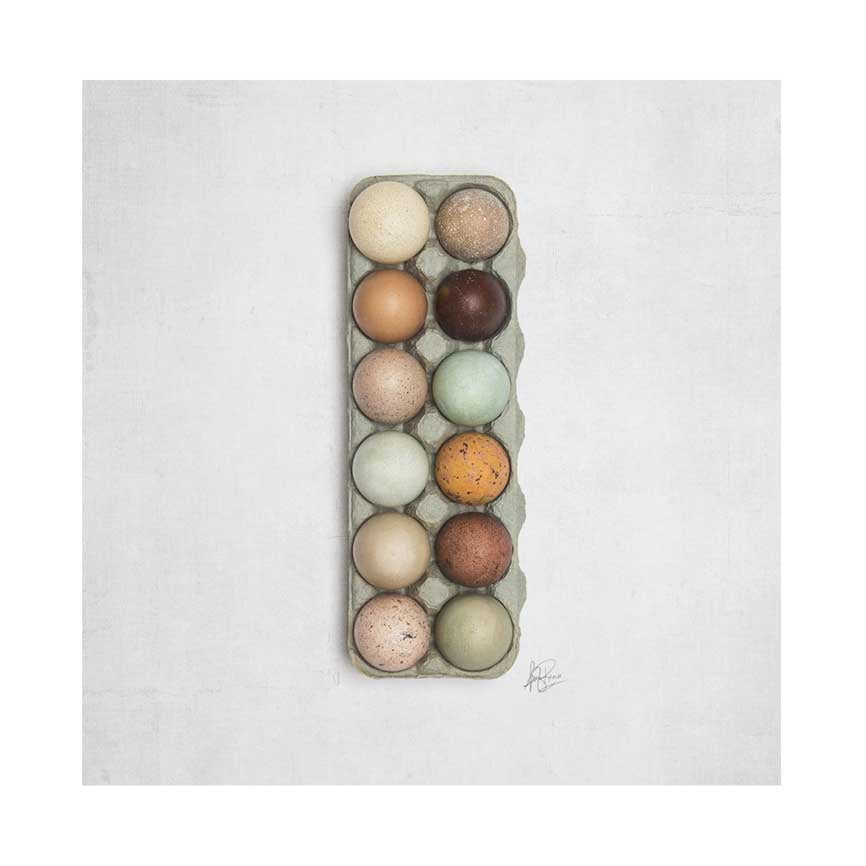 Image of 5x5 Greeting Card Happy Things Eggs