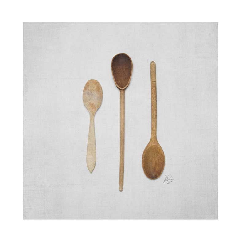 Image of 5x5 Greeting Card Happy Things Wooden Spoons