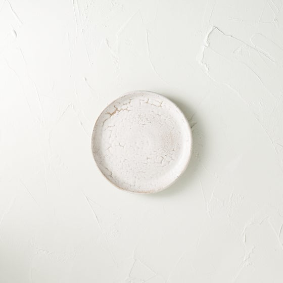 Image of Matte white crawly plate