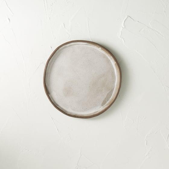 Image of Satin white dark chocolate plate