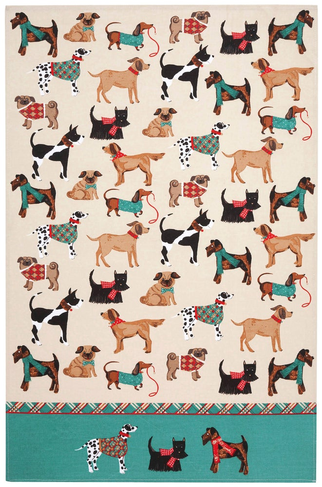 Image of Dogs Tea Towel