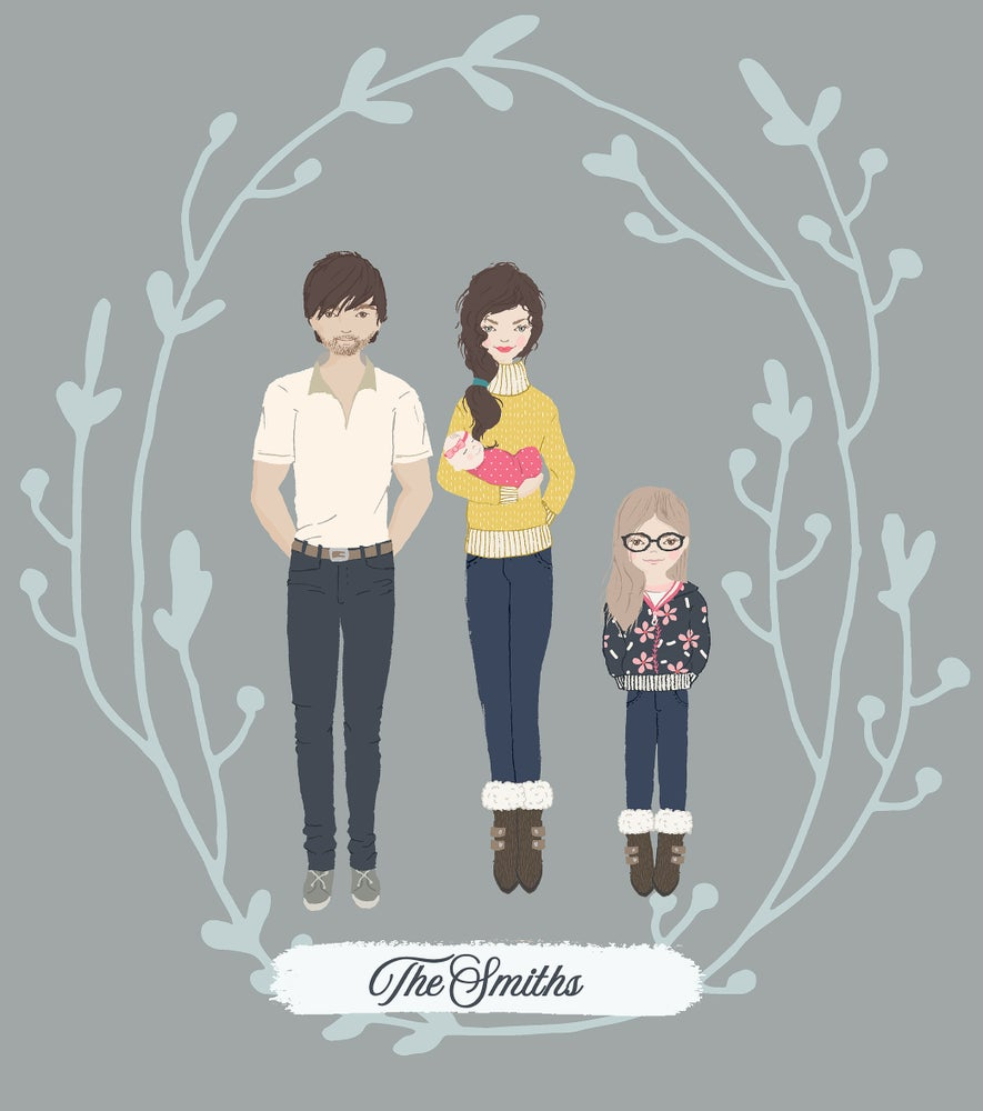 Image of Illustrated Family Portraits