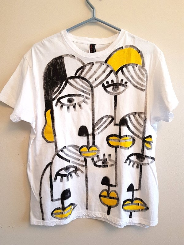 Image of #6 one of a kind, hand-painted t-shirt