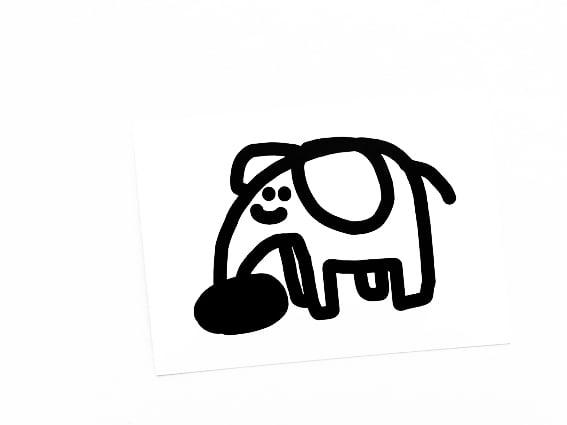Image of POSTKARTE Elephant