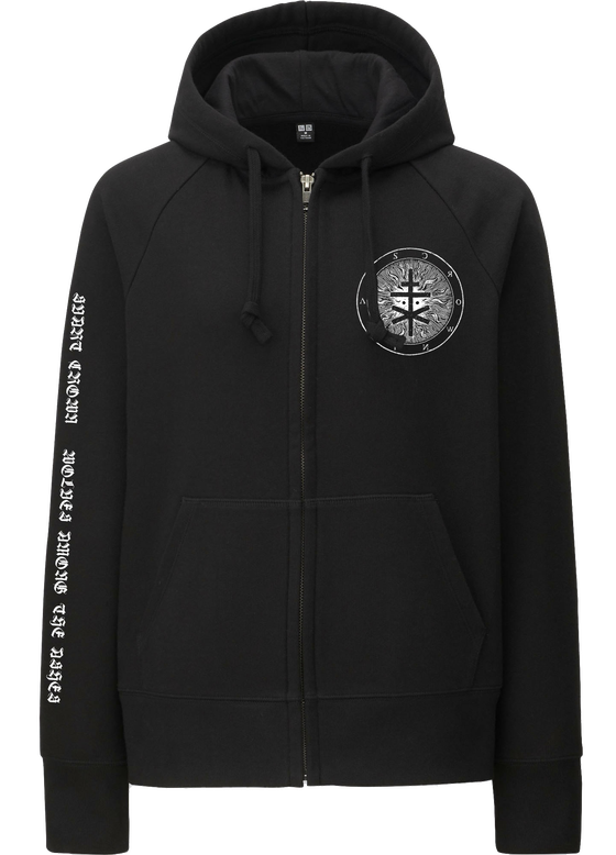 Image of SIGIL WATA ZIP HOODY BLACK