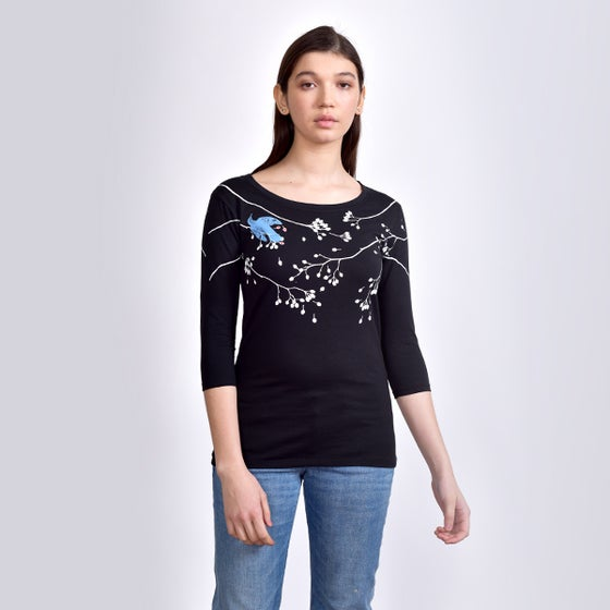 Image of BlackSparrow 3/4 Sleeved T