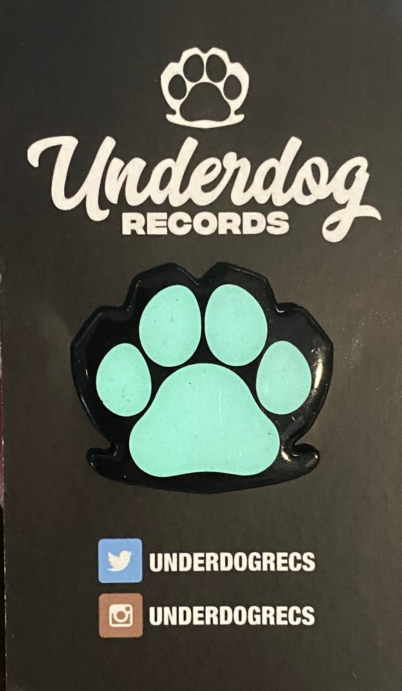 Image of Underdog Records Glow in the dark Pin