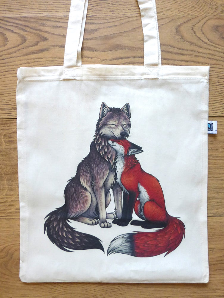 Image of Fox and Wolf Tote Bag