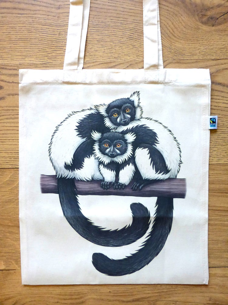 Image of Lemurs Tote Bag