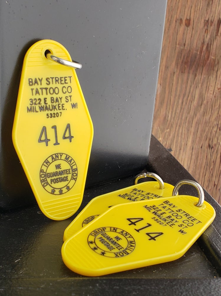 Image of Vintage 414 Hotel Key Tag
