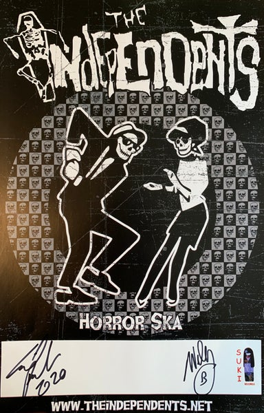 Image of The Independents Horror Ska  Poster Autographed