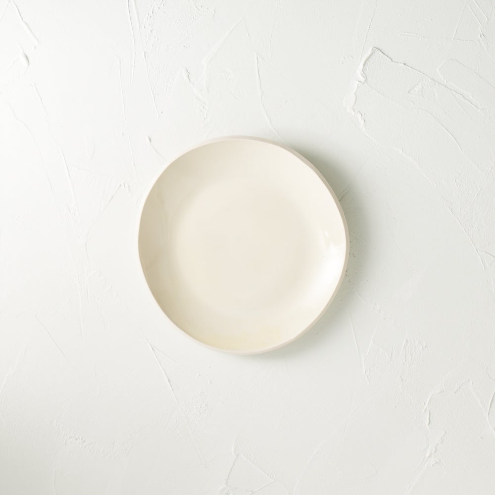 Image of Satin cream desert plate