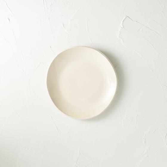 Image of Satin cream desert plate