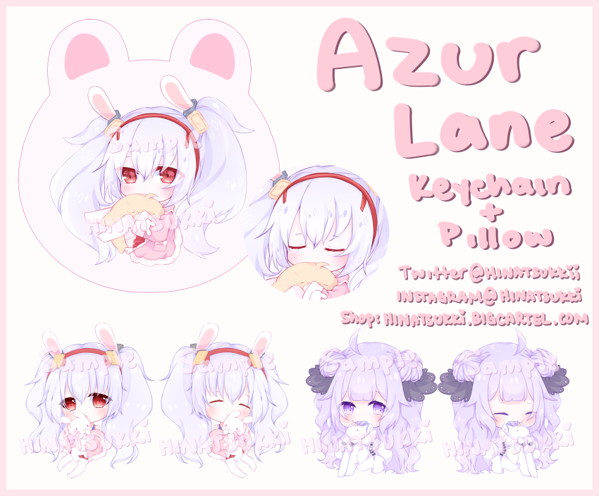 Image of Azur Lane Keychain + Pillow
